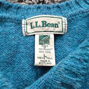 L.L. Bean Teal Pullover Sweater